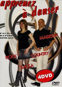 Apprendre salsa-rock-madison-country - 4 dvd
