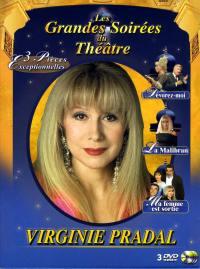Coffret virginie pradal-3 dvd  les grandes soirees du theatre