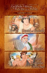 Coffret 2 - david et goliath / moise / josue - 3 dvd