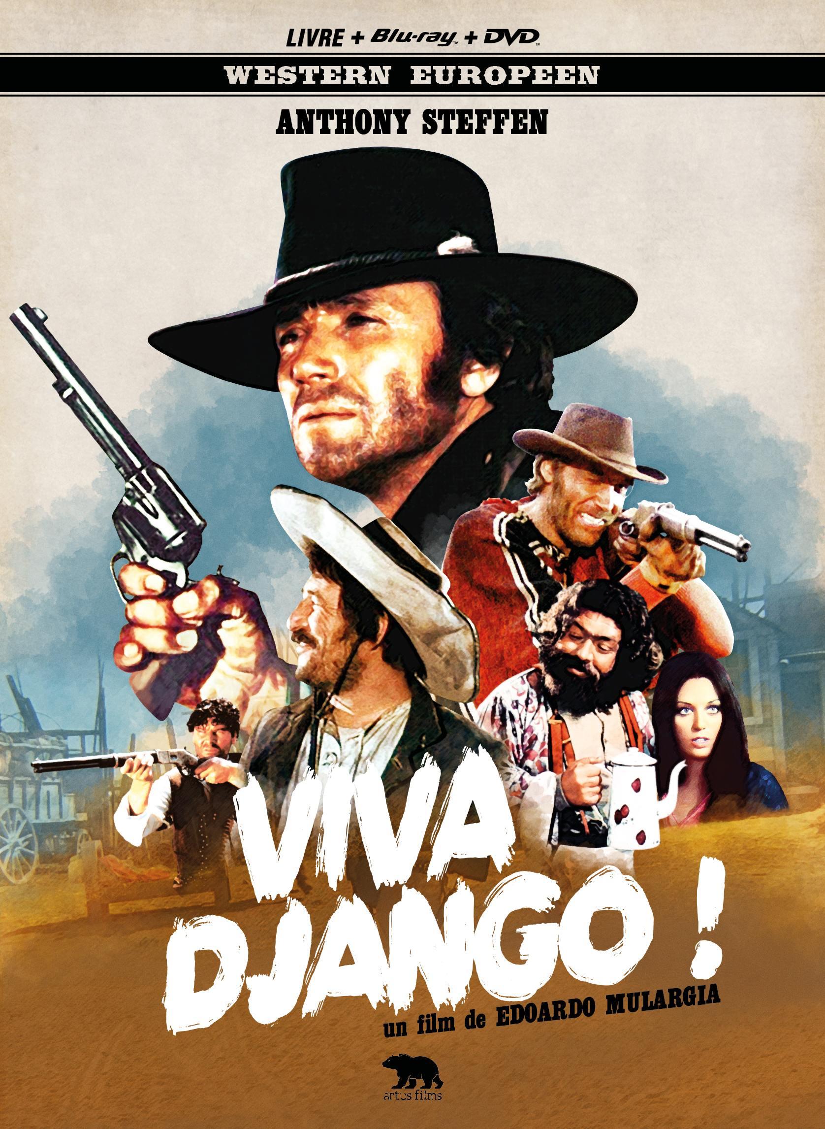 Viva django - combo dvd + blu-ray + livre - mediabook
