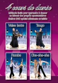 Cours de tango, valse lente, cha-cha-cha, rumba - 4 dvd