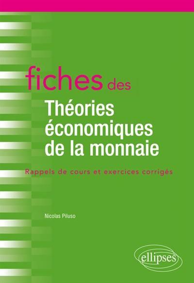 Fiches des théories économiques de la monnaie