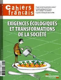 Cahiers français. n° 401, Exigences écologiques et transformations de la société