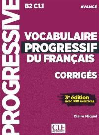 Vocabulaire progressif du français, corrigés