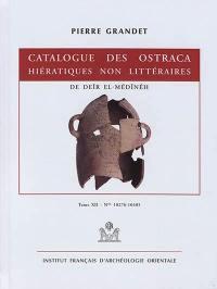 Catalogue des ostraca hiératiques non littéraires de Deîr el-Médînéh. Volume 12, Nos 10276-10405