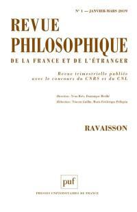 Revue philosophique. n° 1 (2019), Ravaisson