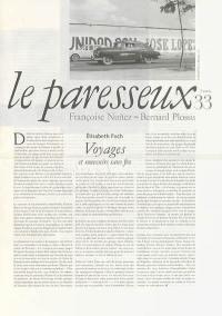 Paresseux (Le). n° 33, Voyages et souvenirs sans fin