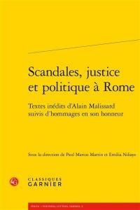 Scandales, justice et politique à Rome