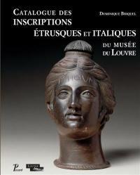 Catalogue des inscriptions étrusques et italiques du Louvre