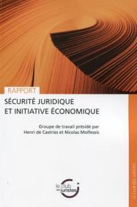 Sécurité juridique et intitiative économique