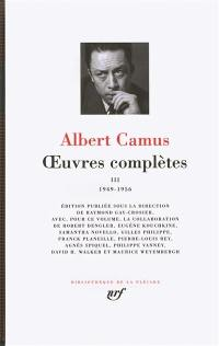 Oeuvres complètes. Volume 3, 1949-1956
