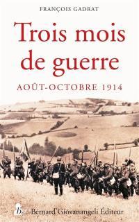 Trois mois de guerre : 7 août-5 novembre 1914