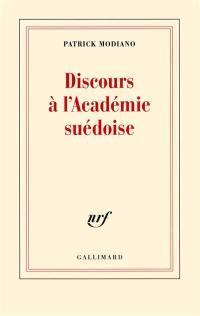 Discours à l'Académie suédoise
