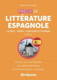 Précis de littérature espagnole