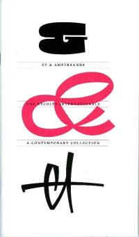 Et & ampersands : une récolte internationale = Et & ampersands : a contemporary collection