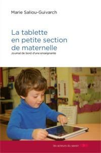 La tablette en petite section de maternelle