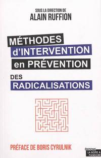 Méthodes d'intervention en prévention des radicalisations