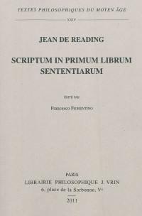 Scriptum in primum librum sententium