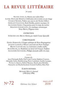 Revue littéraire (La). n° 72