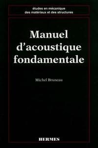 Manuel d'acoustique fondamentale