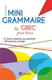 Mini-grammaire du grec pour tous