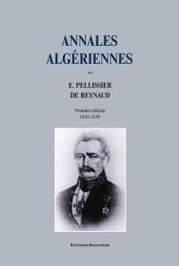Annales algériennes, Première édition