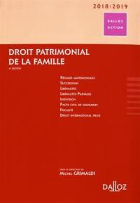 Droit patrimonial de la famille : 2018-2019