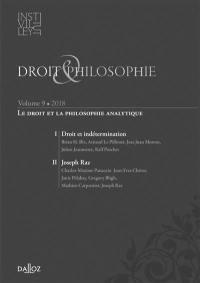 Droit & philosophie : annuaire de l'Institut Michel Villey. n° 9, Le droit et la philosophie analytique