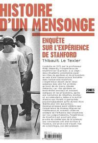 Histoire d'un mensonge : enquête sur l'expérience de Stanford