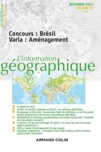 Information géographique (L'). n° 81-4, Concours : Brésil