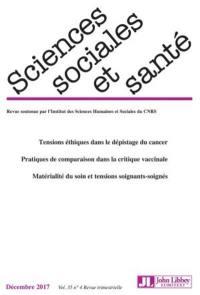 Sciences sociales et santé. n° 4 (2017)