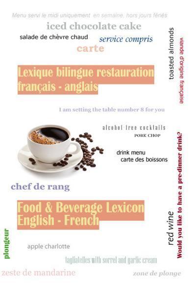 livre   lexique bilingue restauration  u00e9crit par la maison du dictionnaire