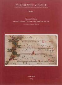 Les principaux manuscrits de chant grégorien, ambrosien, mozarabe, gallican. Volume 23, Montecassino, archivio dell'abbazia, ms. 542