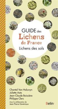 Guide des lichens de France, Lichens des sols