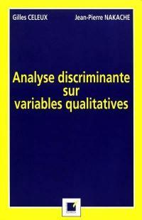 Analyse discriminante sur variables qualitatives