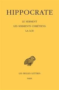 Oeuvres complètes. Volume 1-2, Le serment