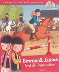 Emma & Lucas font de l'équitation
