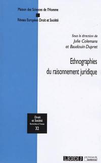 Ethnographies du raisonnement juridique