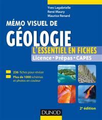 Mémo visuel de géologie : l'essentiel en fiches : licence, prépas, capes