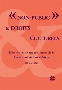 Non-public & droits culturels