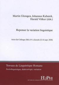 Repenser la variation linguistique