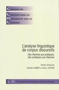 L'analyse linguistique de corpus discursifs