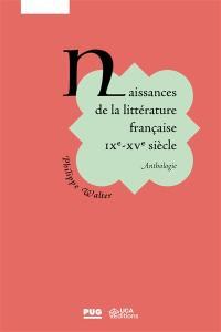 Naissances de la littérature française