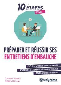 10 étapes pour préparer et réussir ses entretiens d'embauche