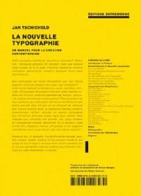 La nouvelle typographie : un manuel pour des créateurs de leur temps
