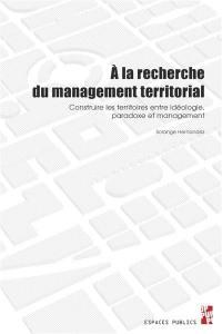 A la recherche du management territorial
