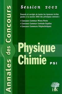 Physique et chimie PSI 2002