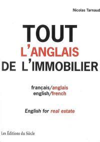 Tout l'anglais de l'immobilier