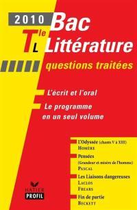 Bac littérature 2010, Tle L