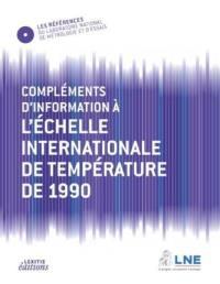 Complément d'information à l'échelle internationale de température de 1990